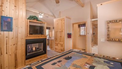 """Photo for Shadow Mountain Lodge & Cabins - """"Cabin 303"""" - Romantic Whirlpool Cabin - Fireplace & Kitchenette"""