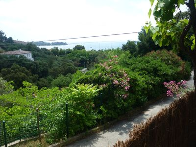 Photo for F2 ground villa, sea view terrace, 5 minutes walk from the beach