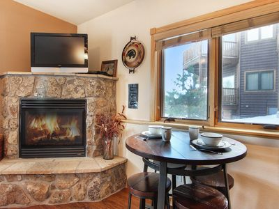 Photo for Lookout Mountain 27B - 1 Br condo with private hot tub, 2 fireplaces, Marys Lake and mountain views!