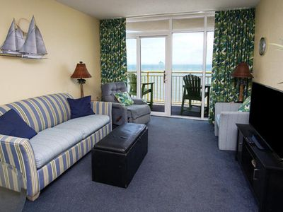 Photo for Baywatch. Awesome Views, Updated Direct Oceanfront Corner Unit. LR/BR balconies