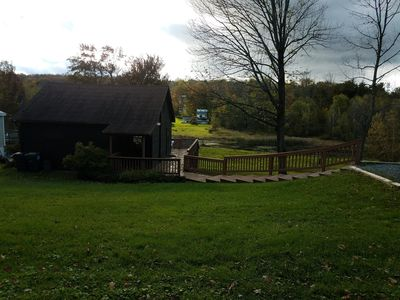 Photo for Quiet Tranquil Cottage on the Lake Cadjaw . Enjoy Pocono nature and arts