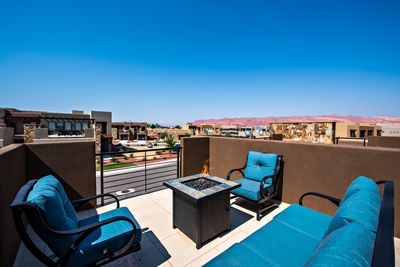 Front Patio View - The views from the Front Patio are breathtaking and overlook the majestic red rock formations of Snow Canyon State Park