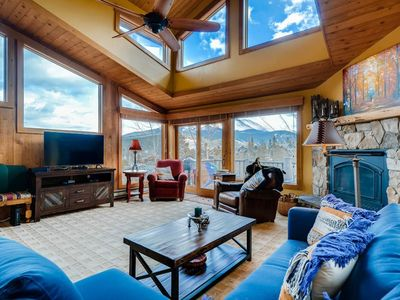 Photo for Ski-in/out, just steps from trail! Heated garage, private hot tub, wifi!