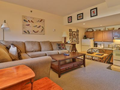 Photo for Cozy condo w/ ski-in/ski-out access to trails, heated pool, hot tub, & more!