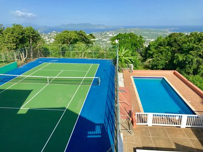 Photo for BEST DEAL EVER!! The  Beautiful Wintberg Villa W/ PRIVATE Tennis Court & Pool