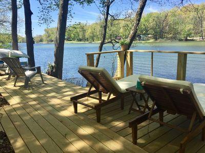 Photo for NEW LISTING!!   Lakefront cottage with Beach -  Lily Pad