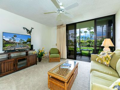 Photo for Lanai to Lawn Steps from the Beach! Kitchen Ease, WiFi, AC–Kamaole Sands 10112