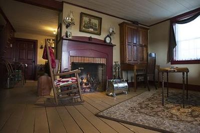 This pioneer lodging in Nauvoo can accommodate up to eight people.