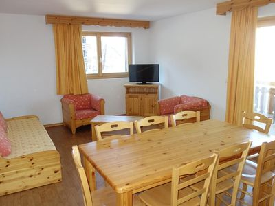 Photo for 3-room apartment 8 people 54m²Entrance hall with 2 bunk beds - Open kitchen (fridge, oven/microwave,