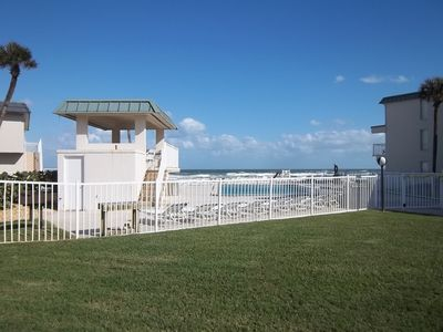 A closer look at the pool and ocean entrance at our complex! Poolside gazebo too