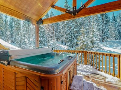 Photo for Large mountain home w/private hot tub, shared pool - near skiing/lake, 2 dogs OK
