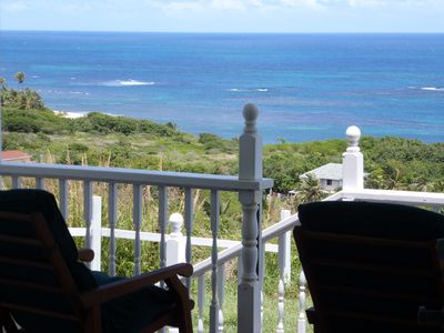 Photo for Home-styled cottage on Nevis with spectacular views of the Caribbean Sea