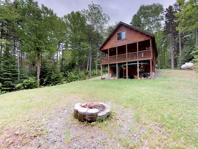 Photo for Dog-friendly log cabin with gorgeous lake views near beach & snowmobile trails!