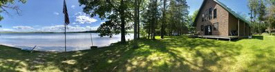 Photo for Lake house with sandy beach front and relaxing views.