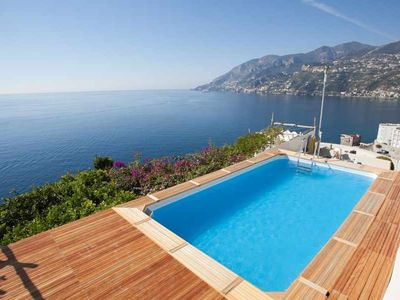 Photo for vacation holiday villa rental, italy, amalfi coast, maiori, sea views, pool, air conditioning, jacuzzi, walk to town, wa