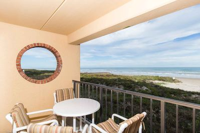 Enjoy the stunning view from the private balcony.