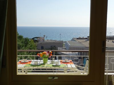 Photo for Full sea view apartment Sanremo