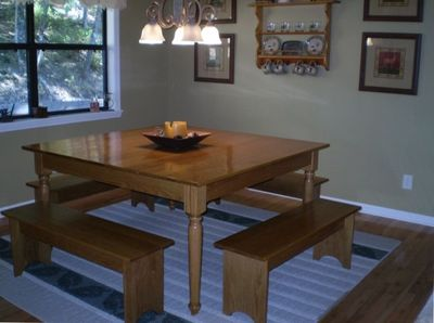 The dining room (the table is larger than it looks in the photo).