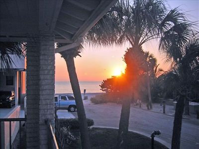 PENTHOUSE VIEW...Spectacular Sunsets over Gulf of Mexico from balcony.
