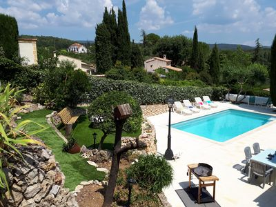 Photo for Spacious Villla 1 hr from Nice Airport, Pool, Wifi. 5 minute walk to village