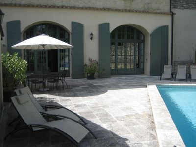 Photo for Uzès Superb Ground Floor Apartment With Its Own Pool On Private Estate