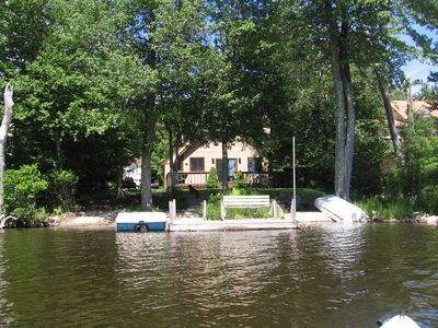 Photo for Lakefront Cabin w/ Private Beach, Dock, AC, 4 Boats, Sauna, Dog Friendly!!!