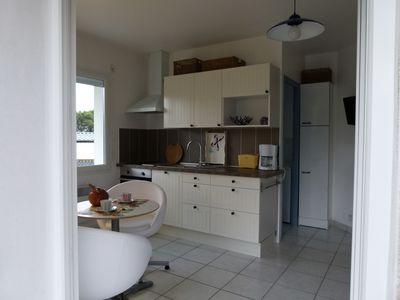 Photo for Studio 2 people on garden with barbecue 200m from the beaches Classified **