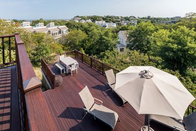 Our upper level deck offers stunning views of Provincetown and National Seashore