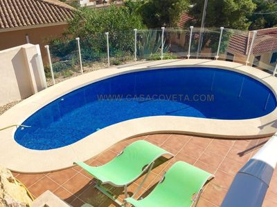 Photo for BEAUTIFUL DETACHED VILLA, A/C, 6 PERS. WIFI, PRIVATE POOL, SPECTACULAR SEA VIEW