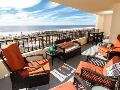 Check out the oversized balcony! - Great views and lots of seating.