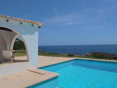Photo for Beautiful beachfront villa with private pool, free WIFI and air conditioning