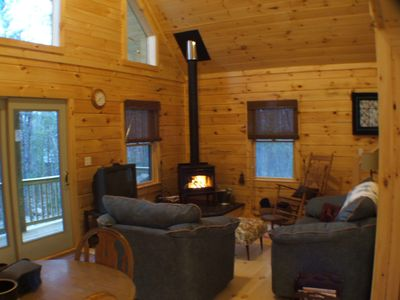 Secluded, Furnished, Log Home, Close To Many Adirondack Attractions.