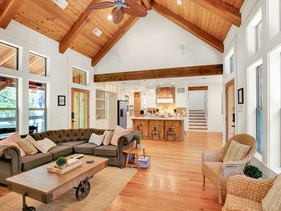Photo for Luxurious Guadalupe River Front Home Ideal For Large Groups, Families, and Corporate Retreats
