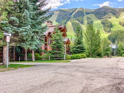 Photo for Ski-in/ski-out condo w/ shared hot tub - one dog is welcome, too!