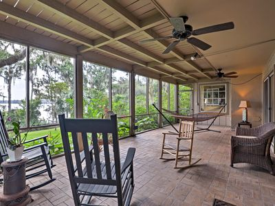 Photo for Lakefront Florida Apartment w/ Boat House & Kayak!