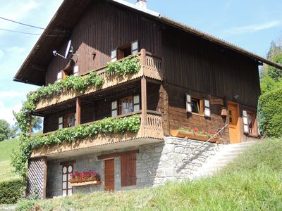 Photo for Authentic Chalet quiet, ideal for holidays
