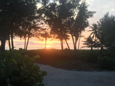Watch the Beautiful Captiva Sunset from your screened in porch