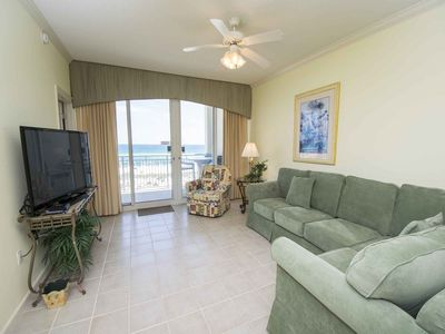Photo for Beachfront Two Bedroom Condo in Navarre Beach! Free Beach Chairs in Season & Steps to the Beach!