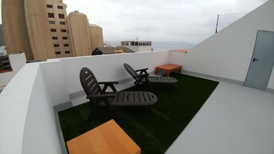 Photo for Beach Apartment & Rooftop Lounge