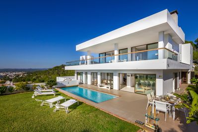 Modernist design with spacious terraces offering unparalleled views
