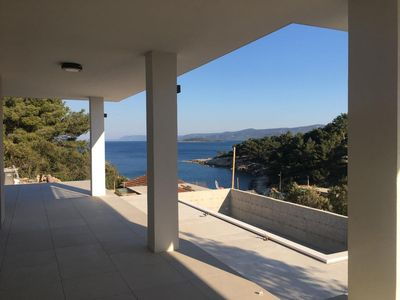 Photo for Two bedroom apartment with terrace and sea view Mudri Dolac, Hvar (A-4050-a)