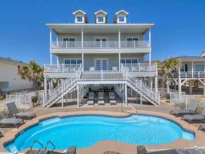 Photo for Sea Glass, Luxury Oceanfront Beach House in Cherry Grove with Game Room and Private Swimming Pool
