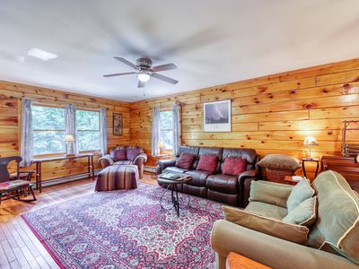 Photo for NEW LISTING! Charming log house with beach access!