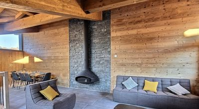 Photo for CHALET DUPLEX APARTMENT FOR 8 PEOPLE IN A NEW CHALET ON THE TRACKS