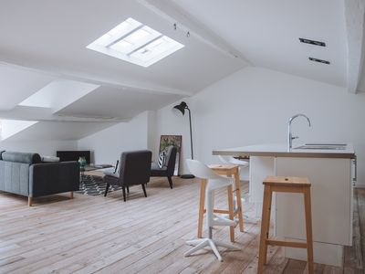 Photo for Large, very bright loft in the city centre