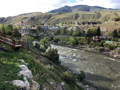 Photo for Amazing view of Yellowstone Park & River. 1/2 mile from the North Park entrance