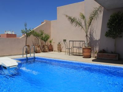 Photo for Luxurious apartment in the center of Marrakech with terrace and pool