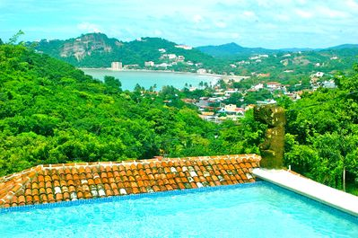 View of the San Juan del Sur bay from the pool.