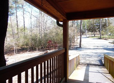 Cabin #2 located in the Noccalula Falls Campground on the bluff of Black Creek