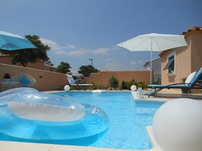 Photo for Parental suite in villa with swimming pool. + air conditioning, wi fi.